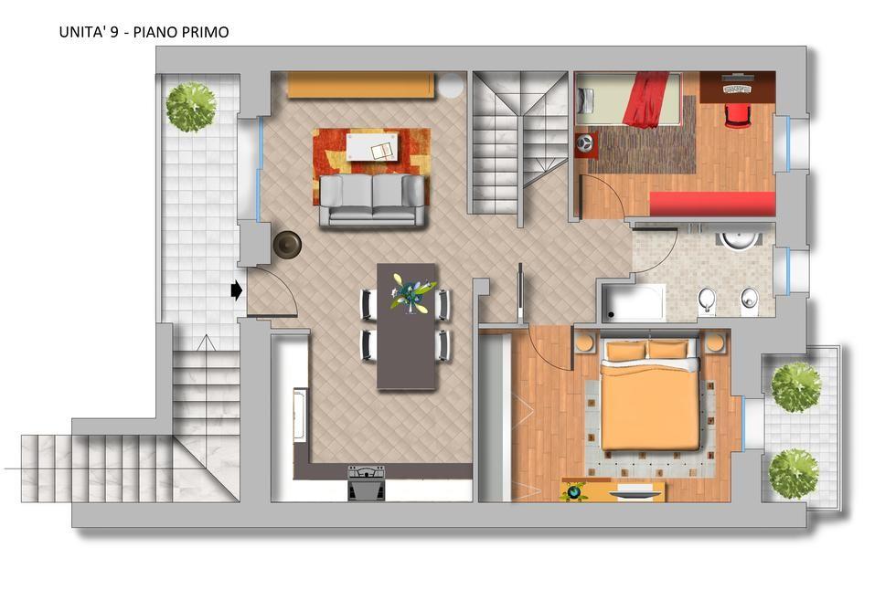 Appartamento duplex in vendita a sona palazzolo for Piani duplex con garage in mezzo
