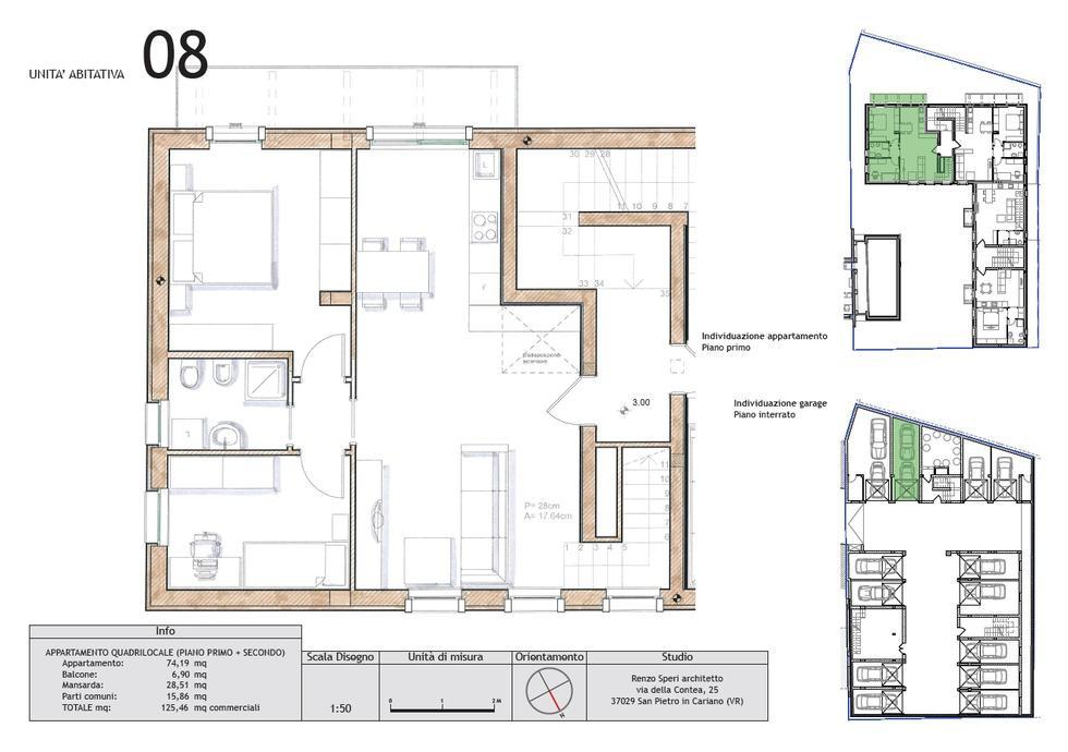 Appartamento quadrilocale in vendita a san pietro in cariano for Planimetria giardino